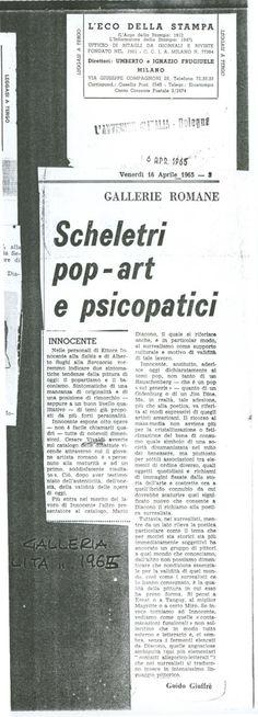 Ritaglio Storico del 1965 - Galleria Salita