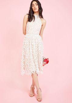 Defining Divine Midi Dress in White
