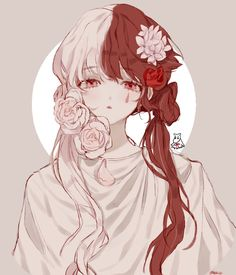 She looks like Todoroki ver female:))) Anime Chibi, Anime Oc, Anime Guys, Manga Anime, Fan Art Anime, Anime Art Girl, Manga Girl, Manga Kawaii, Kawaii Anime Girl
