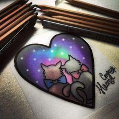 Cute traditional tattoo sketch.
