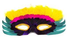 carnaval carnival mardi gras mask mascara antifaz plumas disfraz diy manulidades niños peques