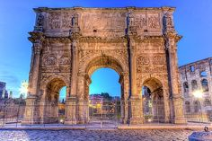 Elena Duvernay - Arch of Constantine in Rome, Italy, HDR Arch Of Constantine, Famous Places, Rome Italy, Hdr, Barcelona Cathedral, Building, Artwork, Travel, Collection