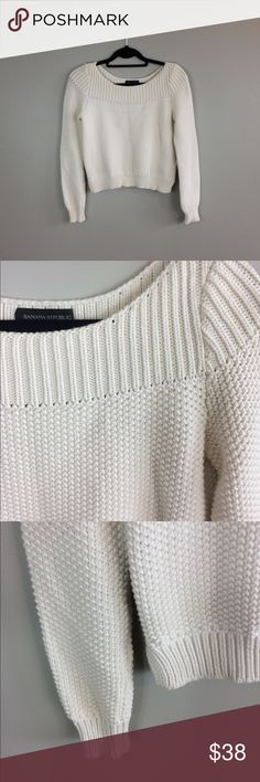 """Banana Republic Boat Neck Knit Sweater No snags, holes or stains! 20"""" length; 17"""" pit to pit; No trades! Banana Republic Sweaters Crew & Scoop Necks"""