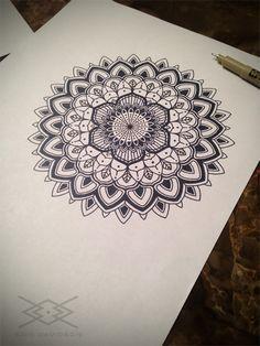 Sacred Geometry Mandala by Kris Davidson