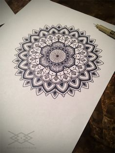 Sacred geometry mandala by kris davidson for Atomic tattoo lakeland fl