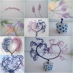 How to make Heart Shaped Beaded Decorative Tree ~ Crazzy Craft