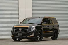 Black and Bronze 2015 Cadillac Escalade on Forgiato Wheels