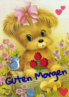 Good Morning Quotes, Say Hello, Smiley, Teddy Bear, Animation, Comics, Animals, Humor, Petra