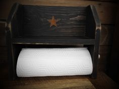 Rustic Paper Towel Holder w/ Shelf | Country | Home Decor | Kitchen Decor…