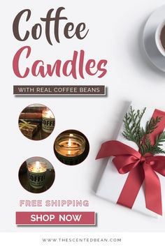 The Scented Bean Coffee Soy Candle Company hand pours soy candles by hand, without dyes and phthalate free. Coffee Lover Gifts, Coffee Lovers, Soy Candles, Scented Candles, Coffee Candle, Real Coffee, Candle Companies, Handmade Candles, Coffee Quotes