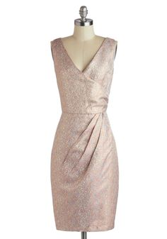 Setting Off Sparkles Dress. Locking eyes with a striking stranger from across the venue, you suddenly find shimmying your way to the other side of the room, weaving in and out of the crowd in this sparkly sheath from Louche! #pink #wedding #modcloth