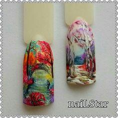 Nail Manicure, Diy Nails, Cute Nails, Pretty Nails, Creative Nail Designs, Cute Nail Designs, Creative Nails, Autumn Nails, Winter Nails