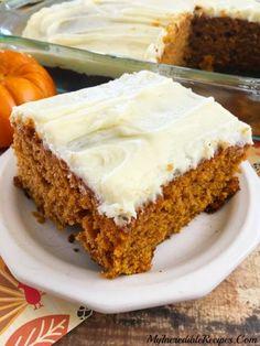 Better than Sex PUMPKIN Cake! Recipe at: myincrediblerecipes 13 Desserts, Delicious Desserts, Dessert Recipes, Dessert Ideas, Autumn Desserts, Sweet Desserts, Pie Recipes, Sweet Recipes, Yummy Recipes