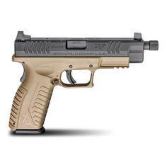 "Springfield Armory Pistol XDM 9mm FDE Threaded Barrel 4.5"" XDMT9459FDEHCE"