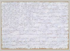 Jasper Johns White Flag 1955 I saw this as it hung at Lincoln Center in NY. It is stunning! Another one of my favorite pieces. And I'm intrigued by the double meaning. Jasper Johns, Robert Rauschenberg, White Flag, White Art, American History X, American Flag, Neo Dada, Monochrome, Classical Realism