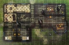 role playing maps | Dungeons & Dragons MEETING HOUSE Gamemastery D&D Pathfinder Map Tiles ...