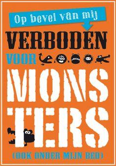 kinderkamer poster monsters oranje