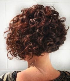 65 Different Versions of Curly Bob Hairstyle Short+Curly+Mahogany+Bob+Hairstyle Short Permed Hair, Haircuts For Curly Hair, Curly Hair Cuts, Short Hair Cuts, Curly Hair Styles, Wavy Hairstyles, Curly Short, Bob Haircuts, Hairstyle Short