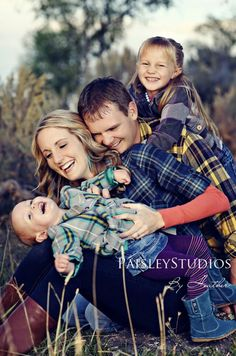 Family photography all flannel