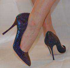 9c7327ec06b Rupert Sanderson metallic purple green high heel pumps UK6.5 EU39.5 -  UK7 EU40