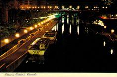 Rideau Canal at night - Ottawa (UNESCO WHS site: Rideau Canal)