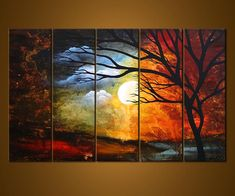 Night and Day painting. I wish I could have this commissioned to put in my house.