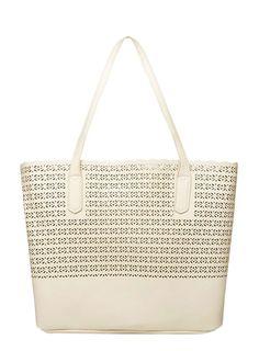 Stone laser cut tote bag - Dorothy Perkins
