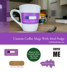 Make custom coffee mugs that are easy, cheap, and look professional. Grab these free printable coffee mug decals and learn how to customize mugs and glassware.