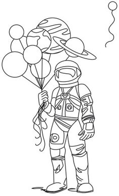 This space traveler happily holds the solar system in his grasp. If you can't let go of Pluto, don't worry -- we included this dwarf planet as an extra! Downloads as a PDF. Use pattern transfer paper to trace design for hand-stitching.