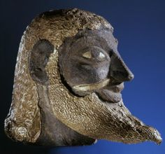 Etruria: The Black Etruscans / Etruscan head with gold overlay (c. 700 BC) via realhistoryww