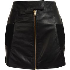 Preen Shrunken leather skirt
