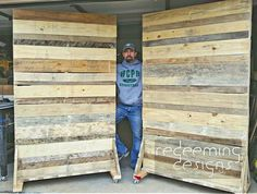 Two more rolling pallet walls ready to roll out. These are heading to Pictured here is who just rocked…