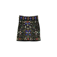 Baroque Gorgeous Colorful Gemstones Skirt ($60) ❤ liked on Polyvore
