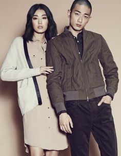 Park Sung Jin and Choi Jun Young for Club Monaco Sept 2014 Park Sung Jin, W Korea, Korean Model, Club Monaco, Jun, Korean Fashion, Singing, Fashion 2014, Style
