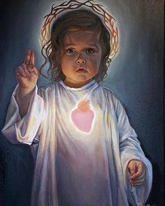 Daughters Of Charity, Daughters Of The King, Heart Of Jesus, God Jesus, Baby Jesus, Jesus E Maria, Dark Souls Art, Pictures Of Jesus Christ, Christian Artwork