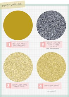 how to create gold glitter in photoshop