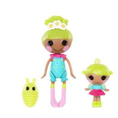 Mini Lalaloopsy Pix E. Flutters and Mini Lalaloopsy Littles Twinkle 'n' Flutters Dolls with Pet