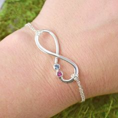 Easter Sale Infinity Bracelet  Birthstone by TheJewelryGirlsPlace