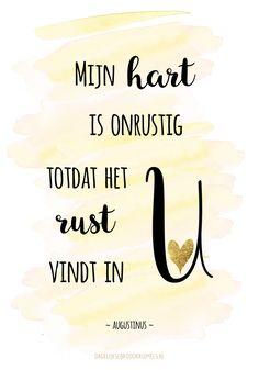 Mijn hart is onrustig totdat het rust vindt in U. Augustinus #Bemoediging https://www.dagelijksebroodkruimels.nl/mijn-hart-is-onrustig-totdat-het-rust-vindt-in-u-augustinus/