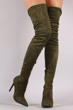 Drawstring Tie Over-The-Knee Boots   UrbanOG