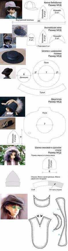 Molde chapéu de boneca