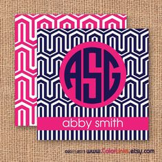 Modern Geometric Pattern Calling Cards or Business by ColorLinks