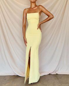May 2020 - Sexy Prom Dresses Side Slit Prom Dress – classygown Deb Dresses, Pretty Prom Dresses, Grad Dresses, Elegant Dresses, Beautiful Dresses, Evening Dresses, Yellow Ball Dresses, Fall Dresses, Colorful Prom Dresses