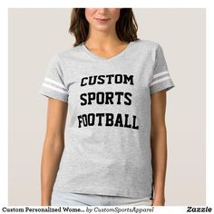 Custom Personalized Women's FOOTBALL T-SHIRT