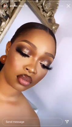 Makeup For Black Skin, Fancy Makeup, Glam Makeup Look, Glamour Makeup, Black Girl Makeup, Nude Makeup, Flawless Makeup, Girls Makeup, Gorgeous Makeup
