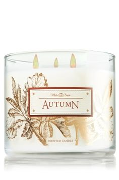 Autumn 3-Wick Candle- Bath & Body Works This is actually really nice not to sweet or to cinnamon.