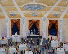 Live Event Painting | Color Me Nola  | Kristy Oustalet | Weddings | New Orleans | Baton Rouge | Venue : Chateau Estates