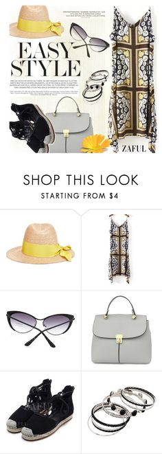 """Summer Easy Style"" by ansev ❤ liked on Polyvore featuring Federica Moretti and zaful"