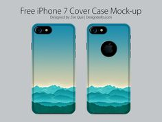 Free Apple Iphone 7 Cover Case Mock Up PSD by Zee Que | Designbolts