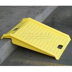 "Portable Plastic Hand Truck Curb Ramp 1000 Lb. Capacity by EAGLE MFG CO. $61.95. PORTABLE PLASTIC HAND TRUCK CURB RAMP Hand Cart Ramp Is A Must For Every Route Driver! Lightweight and portable curb ramp provides a safe and easy way to move heavy loads over curbs and steps. High visibility safety yellow ramp weighs only 9 pounds! Strong high-density polyethylene ramp has 1""H side rails and a non-slip surface to provide excellent traction in all weather conditions. Twin ca..."